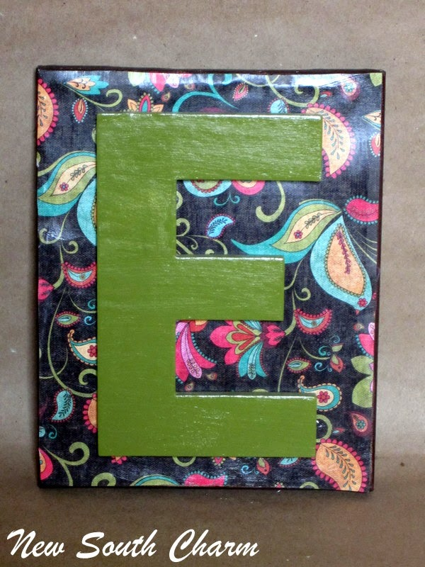 Easy Monogram Craft