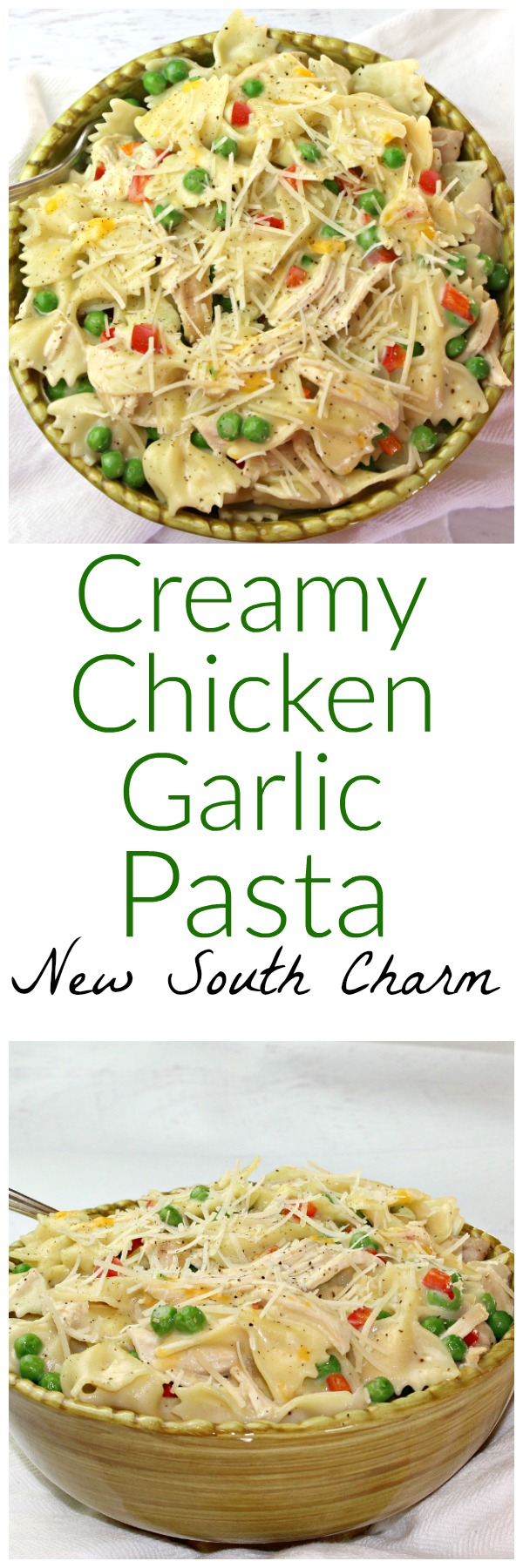 Cream Chicken Garlic Pasta
