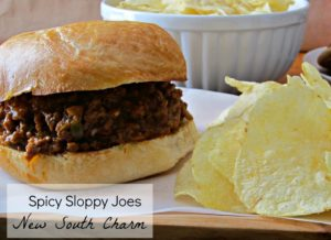 Spicy Sloppy Joes - New South Charm