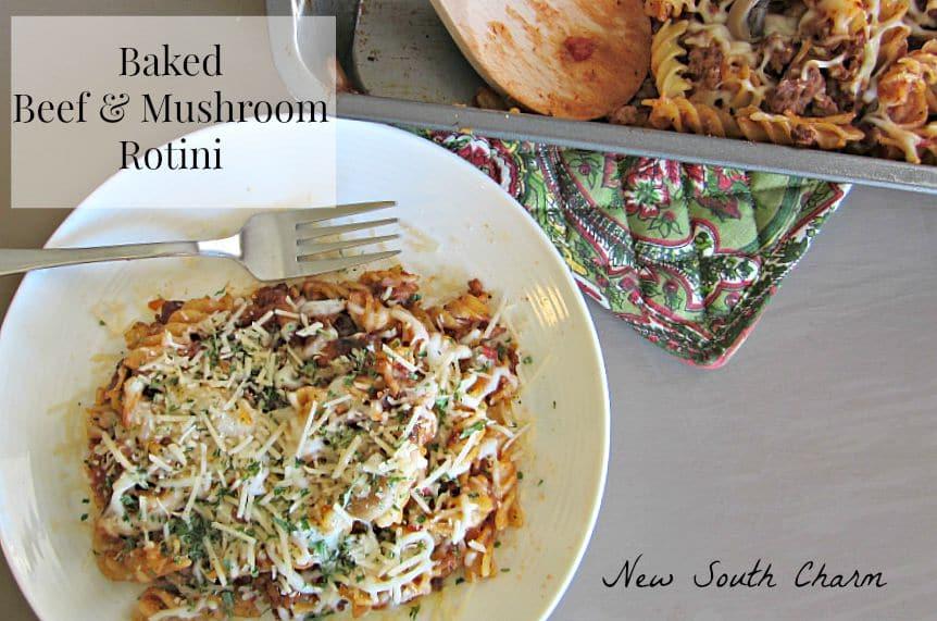 Baked Beef and Mushroom Rotini FB
