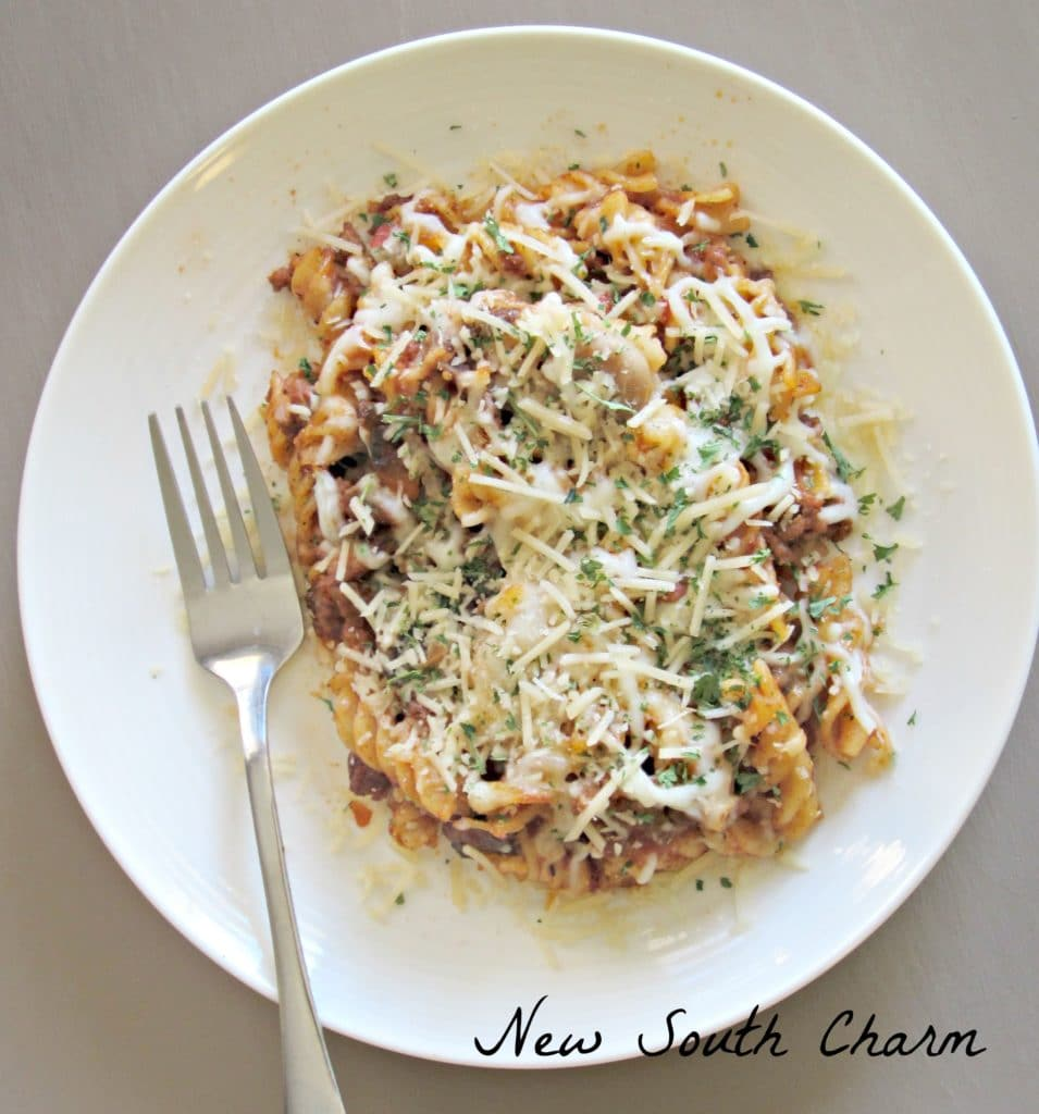 Baked Beef and Mushroom Rotini Support