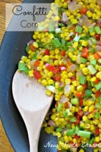 Confetti Corn is the perfect side dish to jazz a simple dinner.