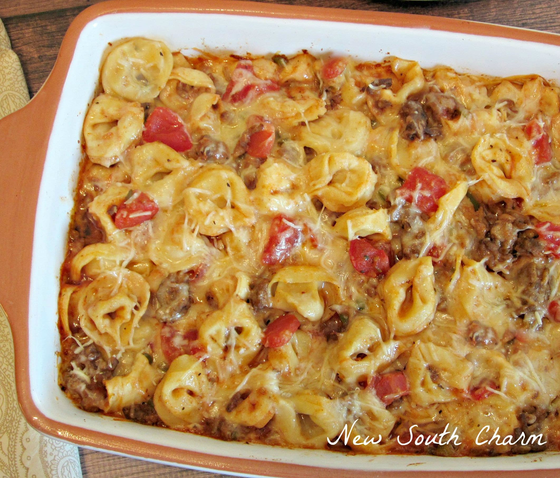 Easy Three Cheese Tortellini Bake