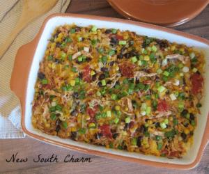Chicken Fajita Casserole Cover