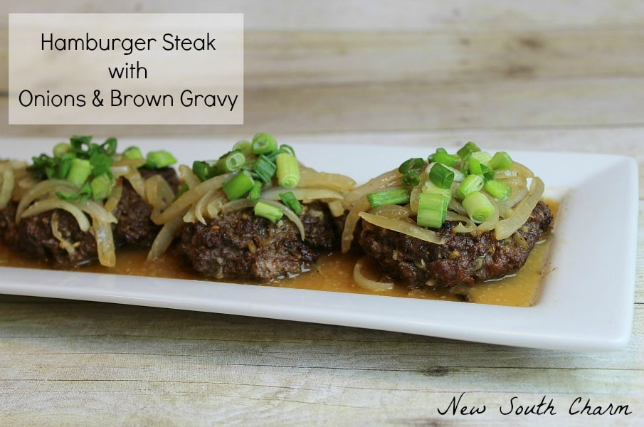 Hamburger Steak with Onions and Brown Gravy Content