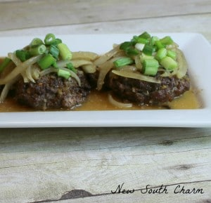Hamburger Steak with Onions and Brown Gravy Cover