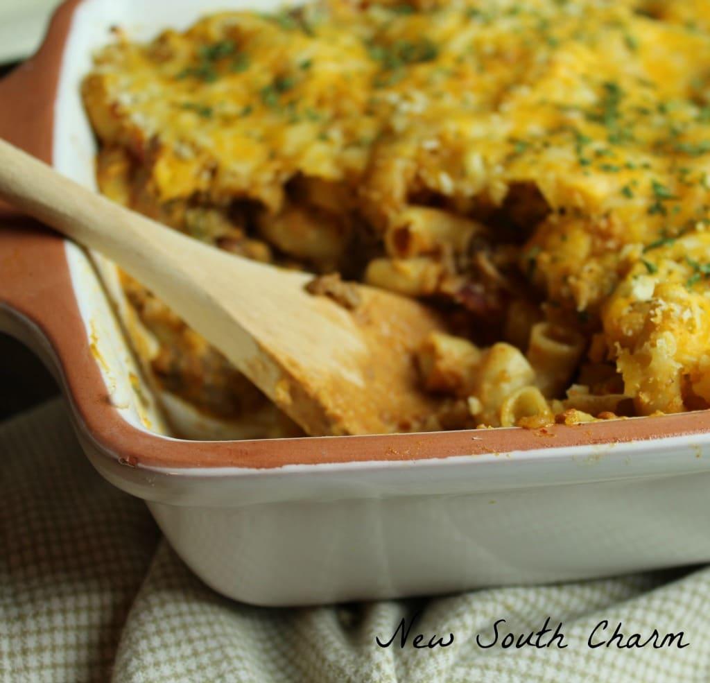 Cheesy Beef Macaroni Casserole