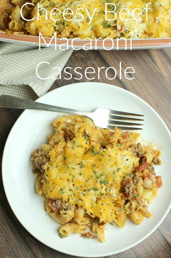Cheesy Beef Macaroni Casserole - New South Charm