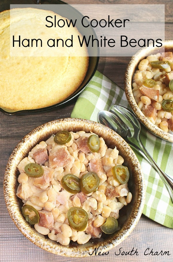 Slow Cooker Ham and White Beans
