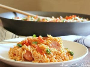 Easy Smoked Sausage & Rice Skillet Cover