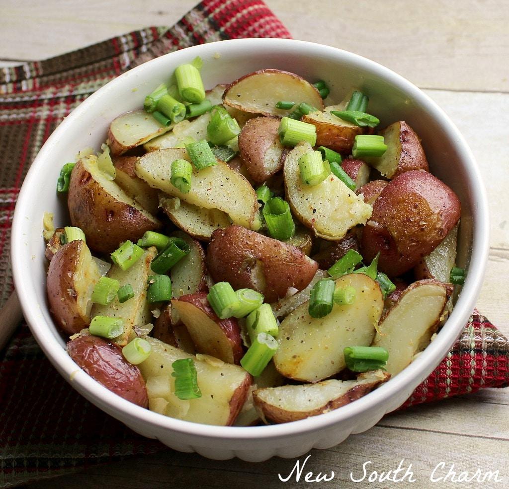 Oven Roasted Garlic Potatoes