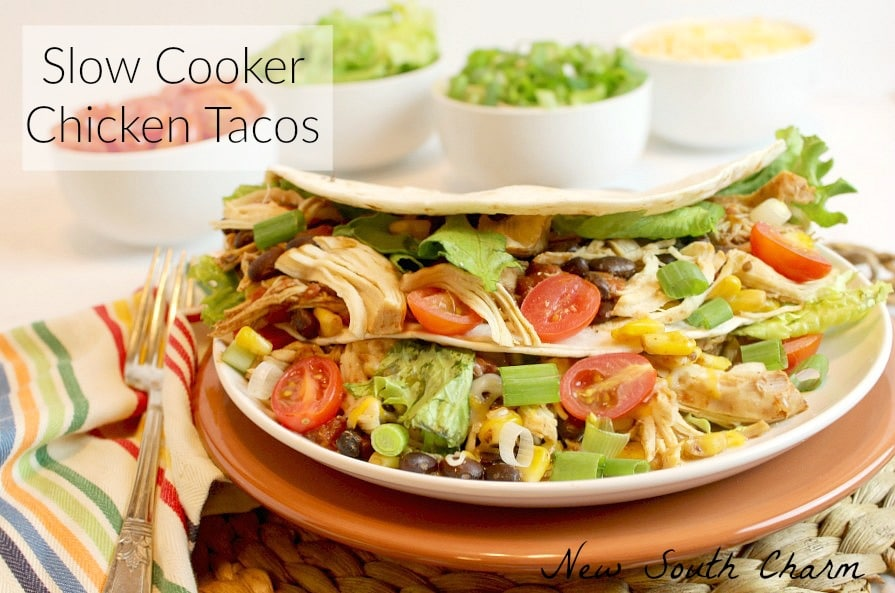 Slow Cooker Chicken Tacos FB