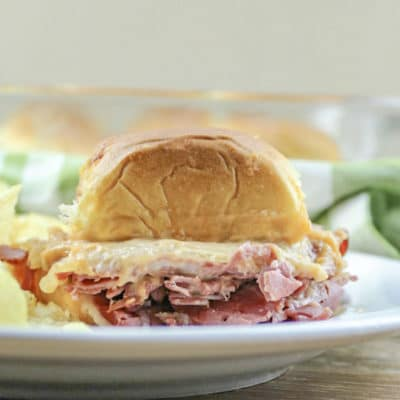 Corned Beef Sliders with Horseradish Sauce
