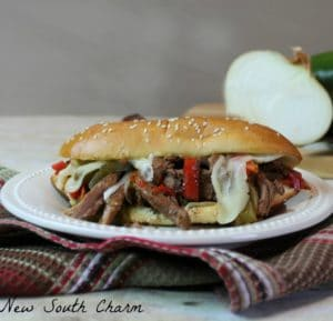 Slow Cooker Philly Cheesesteak Cover