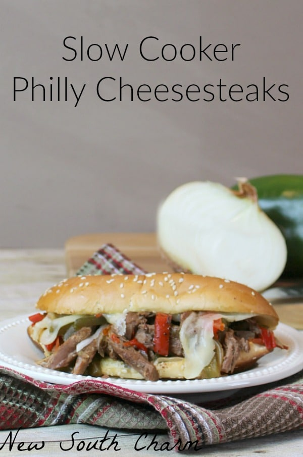 Slow Cooker Philly Cheesesteaks - New South Charm