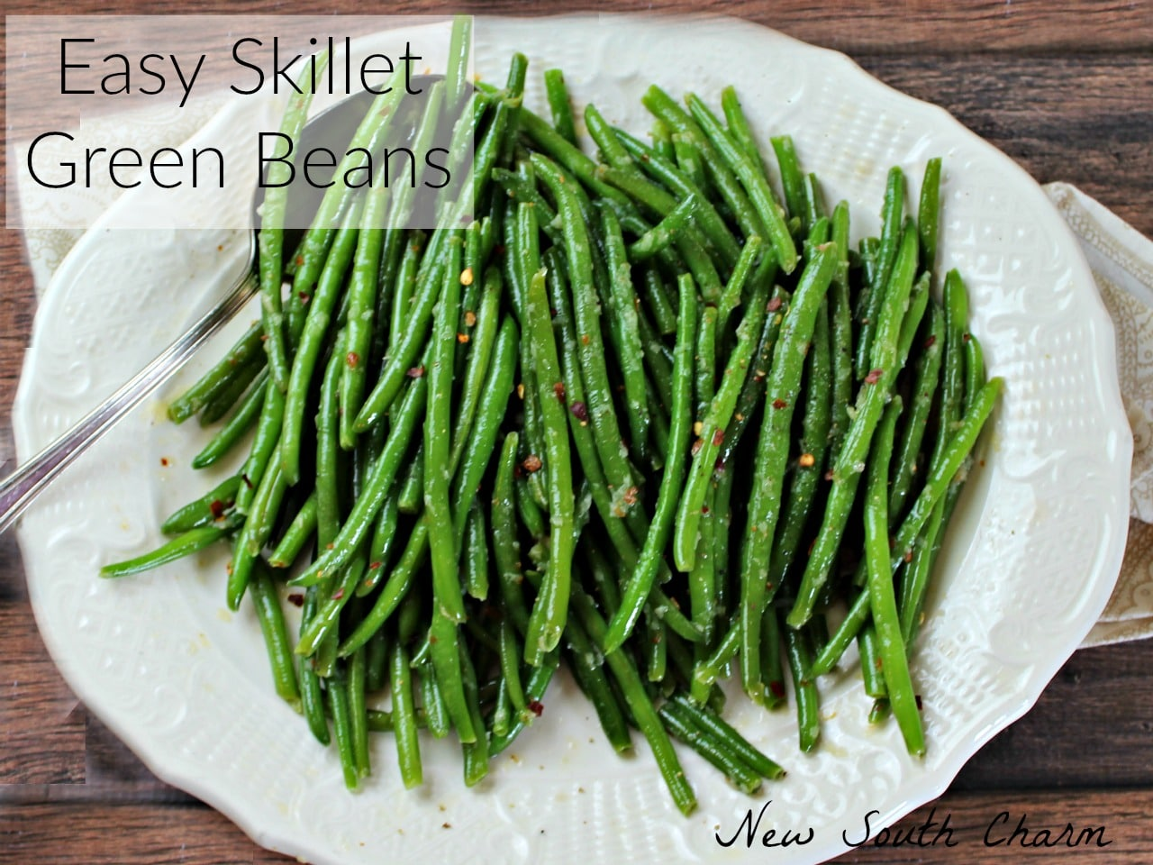 Easy Skillet Green Beans FB