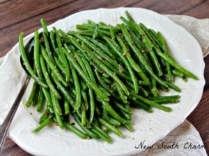 Easy Skillet Green Beans IG