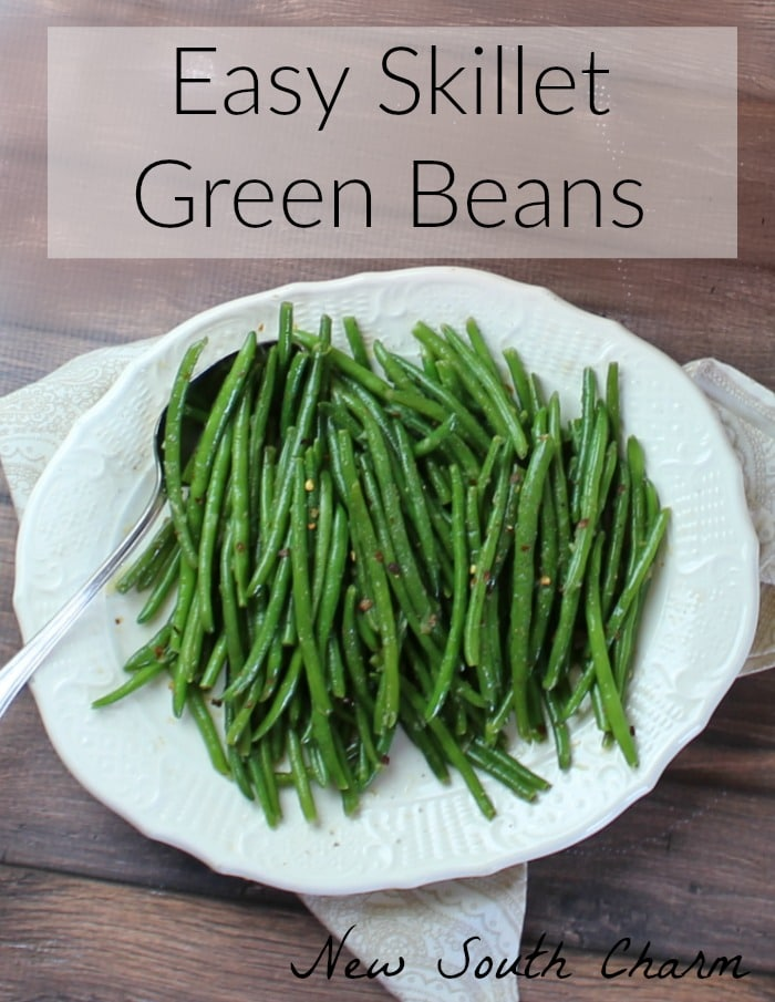 Easy Skillet Green Beans Pin