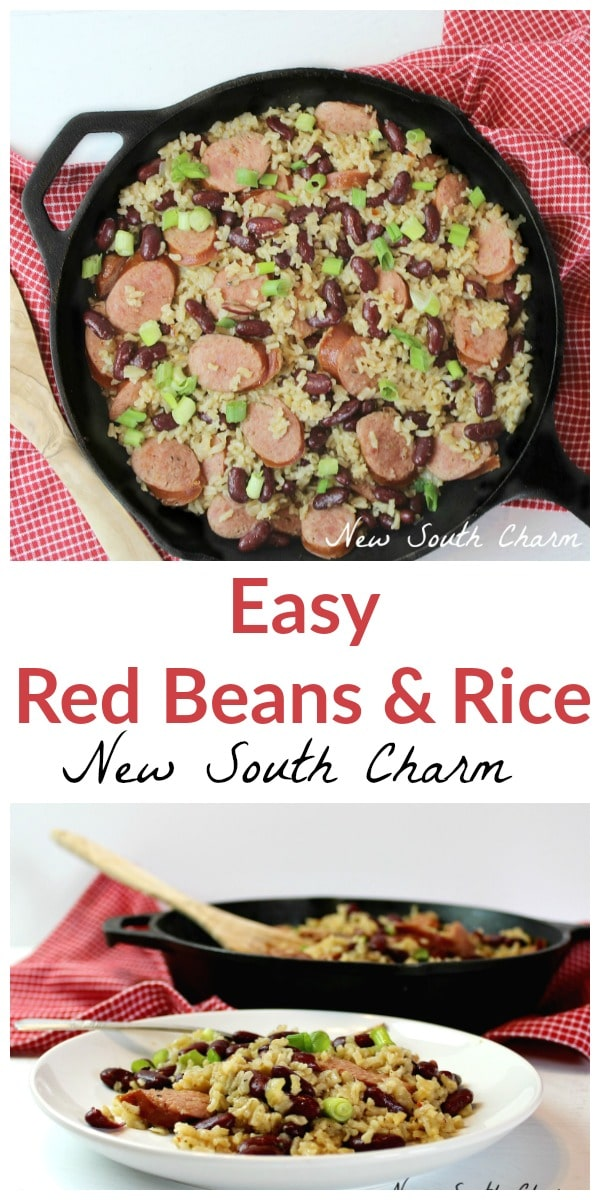 Easy Red Beans and Rice have all the flavor of the traditional dish in half the time.