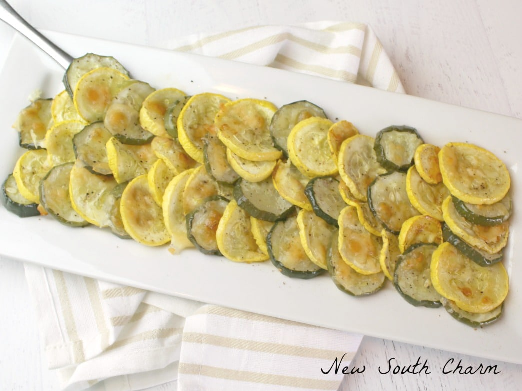 Oven Roasted Parmesan Squash and Zucchini