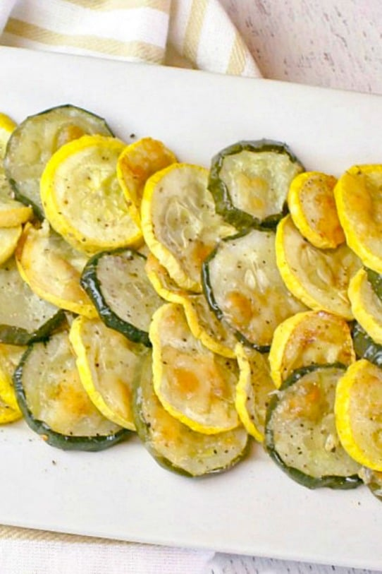 Garlic Parmesan Squash and Zucchini