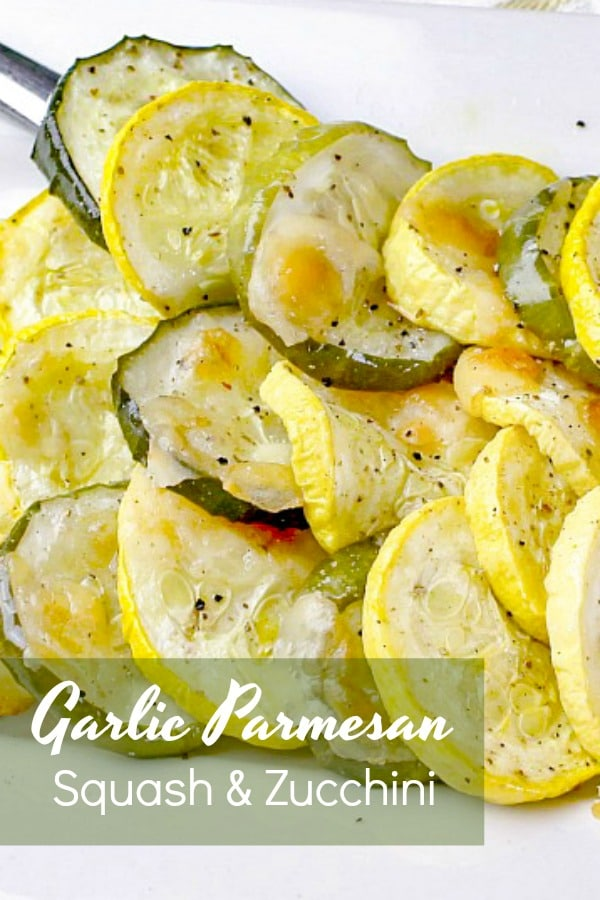 Fresh squash and zucchini are perfectly complimented by savory garlic and parmesan cheese.