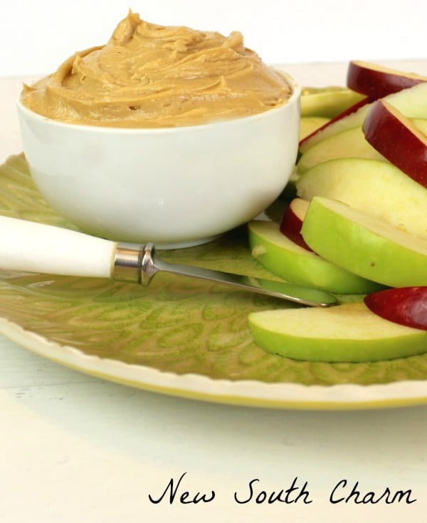 Creamy Peanut Butter Apple Dip #Apple Week
