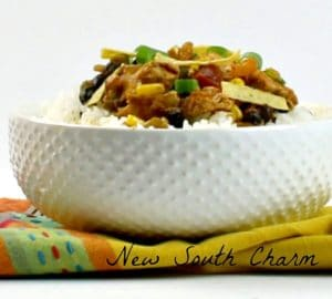 Easy Chicken Taco Bowls Pin cover