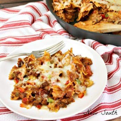 Easy Skillet Lasagna #SundaySupper