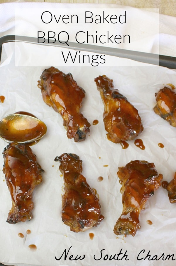 Oven Baked BBQ Chicken Wings are easy to make and perfect for game day or dinner anytime.