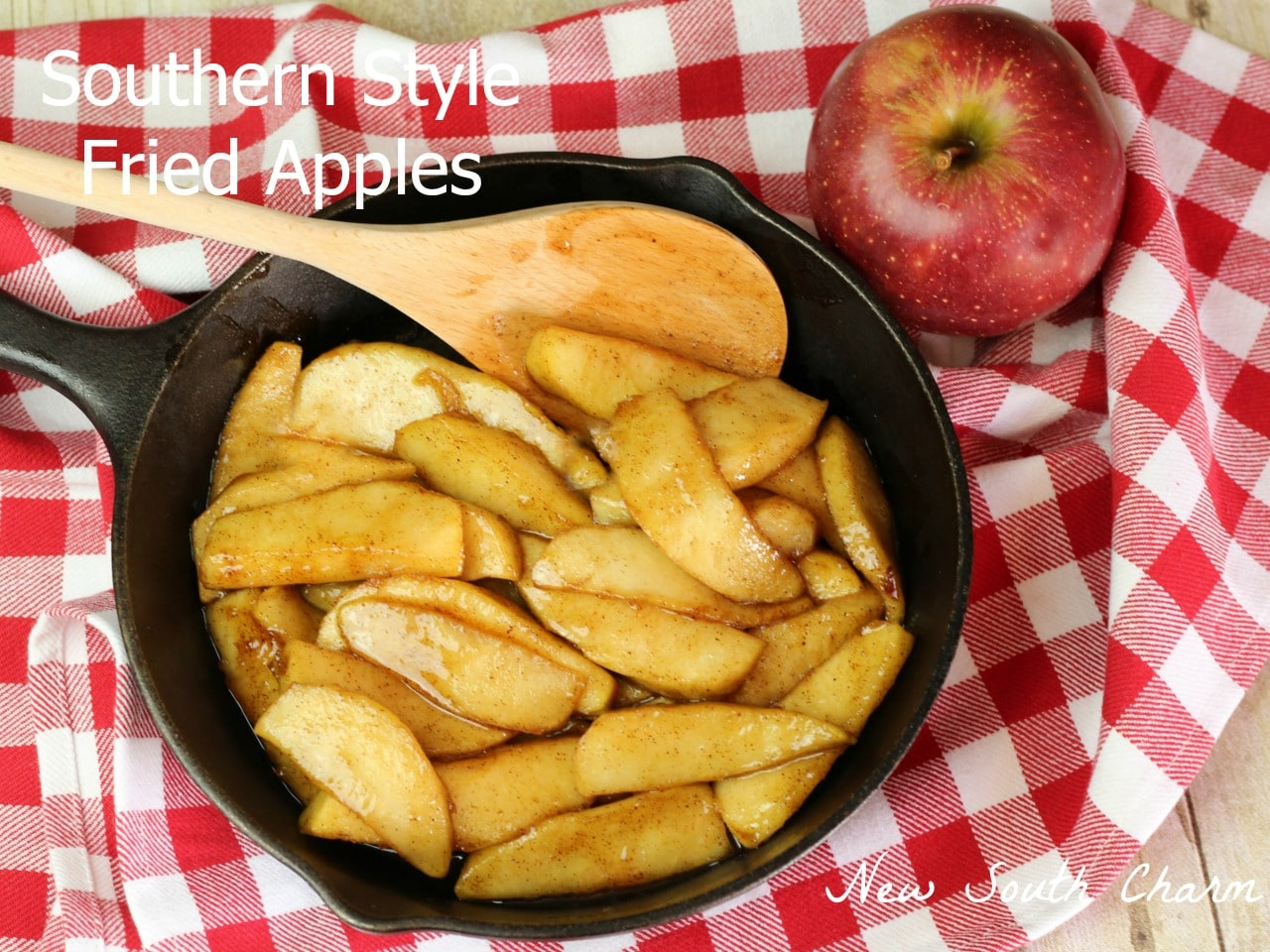 Southern Style Fried Apples are an easy recipe that's perfect for enjoying the bounty of fresh apples in the Fall.