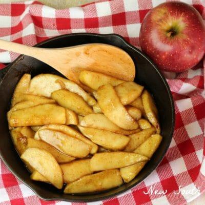 Southern Style Fried Apples #AppleWeek
