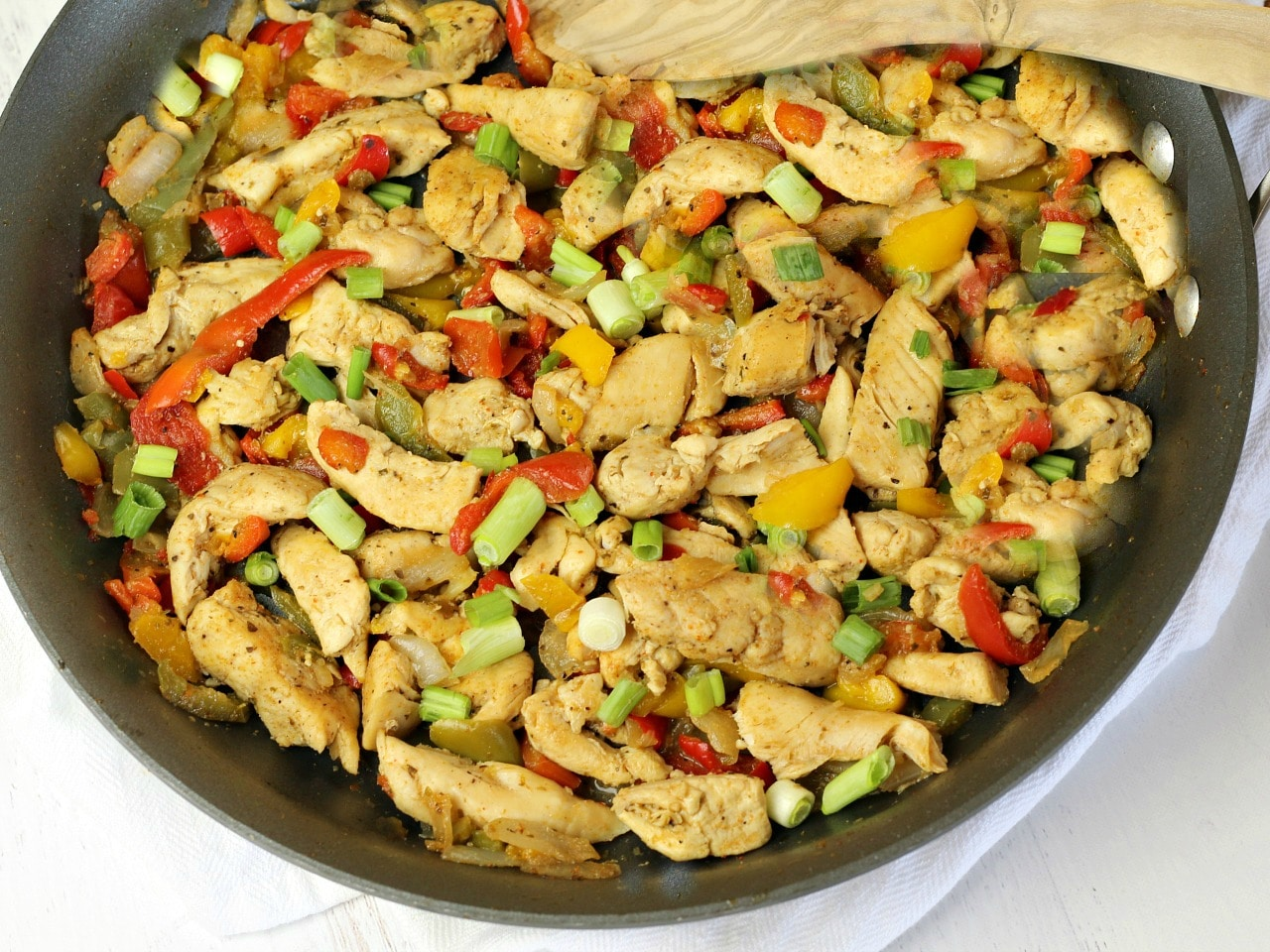30 Minute Chicken Fajitas are a family friendly recipe for a fast, easy dinner.