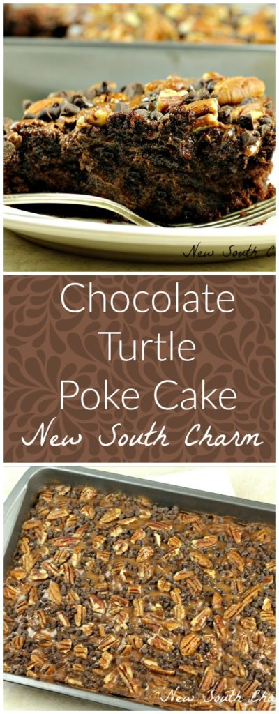 chocolate-turtle-poke-cake-collage