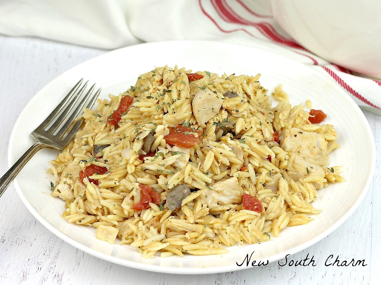 Just 30 minutes is all you need to make this easy One Pot Creamy Chicken Orzo.