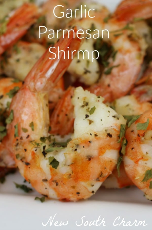 Garlic Parmesan Shrimp is ready in about 20 minutes and is perfect for a fast dinner or easy appetizer.