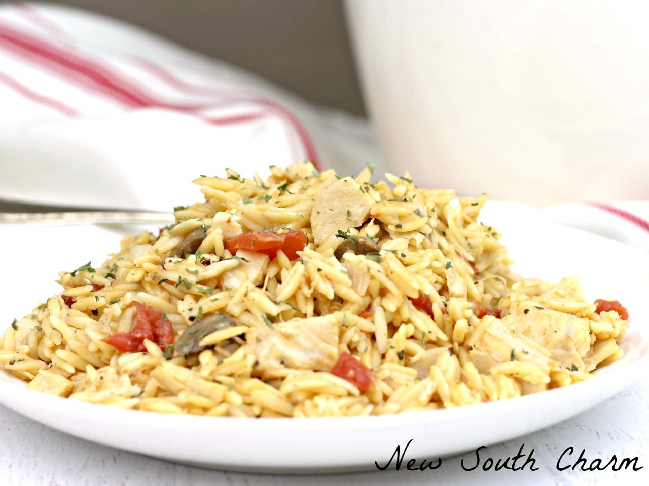 One Pot Creamy Chicken Orzo Pasta Recipe