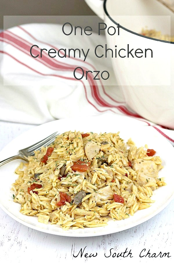 One Pot Creamy Chicken Orzo