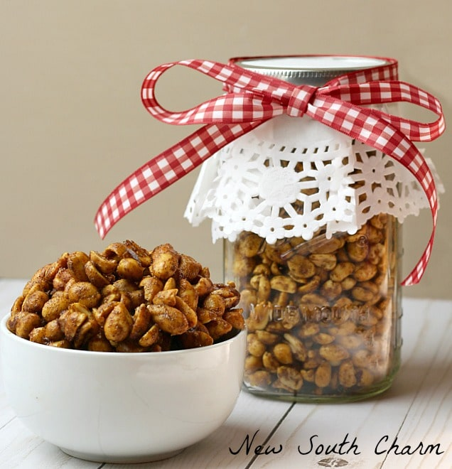 Toffee Candied Peanuts are a great snack for you or gifting to a friend this Christmas.