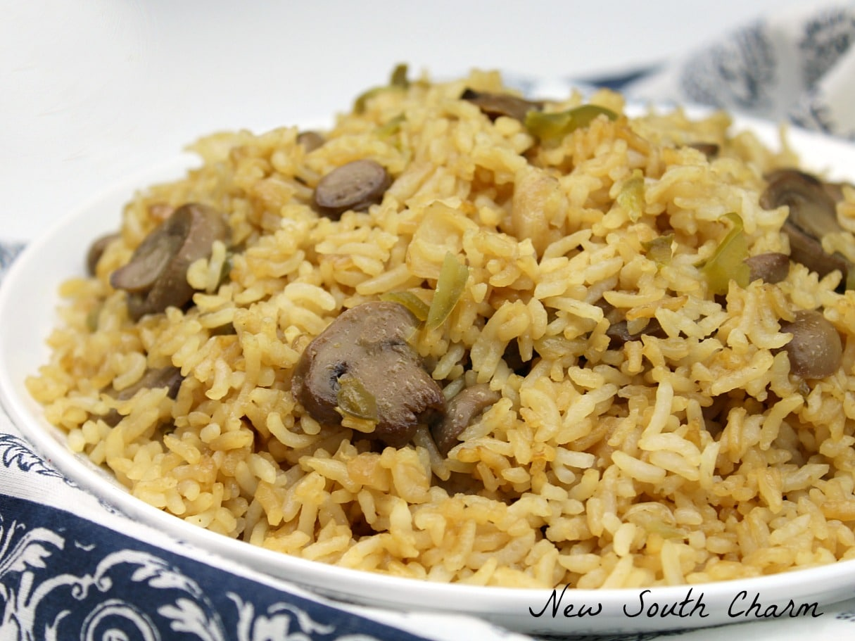 spicy fried rice mushroom