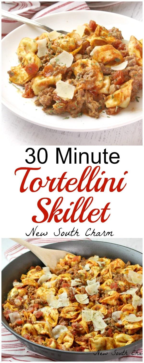 30 Minute Skillet Tortellini