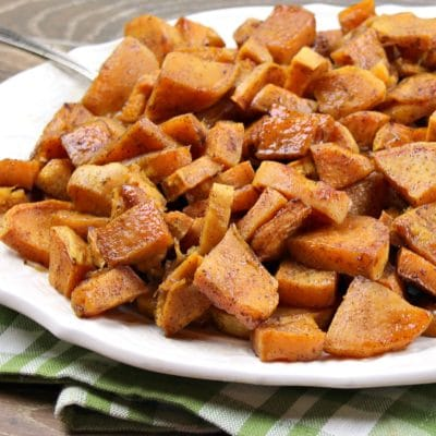 Maple Cinnamon and Sugar Sweet Potatoes