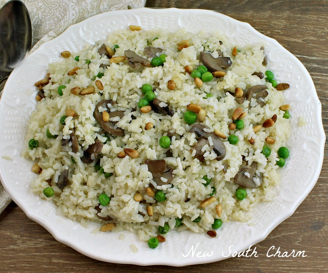 Mushroom and Toasted Pine Nut Pilaf