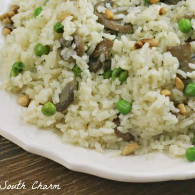 Mushroom and Toasted Pine Nut Rice Pilaf