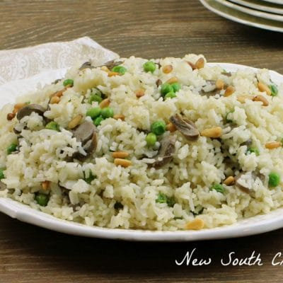 Mushroom and Toasted Pine Nut Rice Pilaf