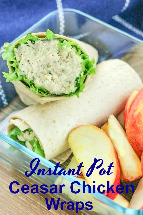 These Instant Pot Chicken Caesar Wraps are prefect for meal prepping a week of lunches in just 20 minutes!