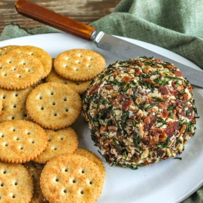 Bacon and Chive Cheeseball