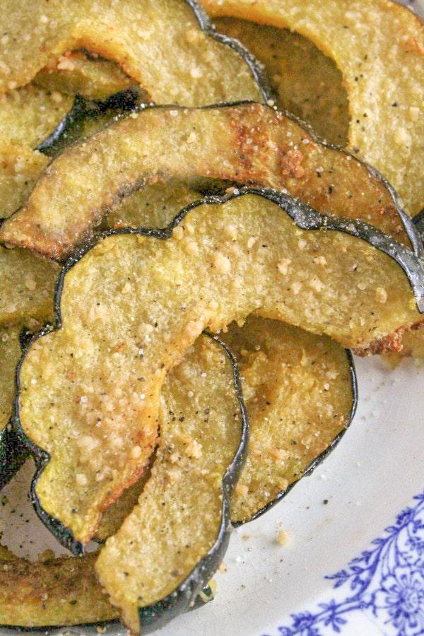 Oven Roasted Parmesan Acorn Squash