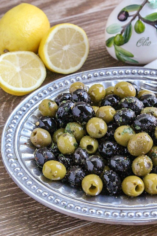 Garlic and Herb Olive Appetizer