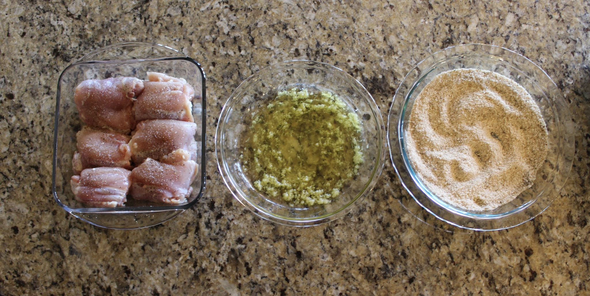 Garlic Parmesan Chicken Thighs Process Shot